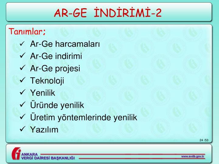 AR-GE  İNDİRİMİ-2