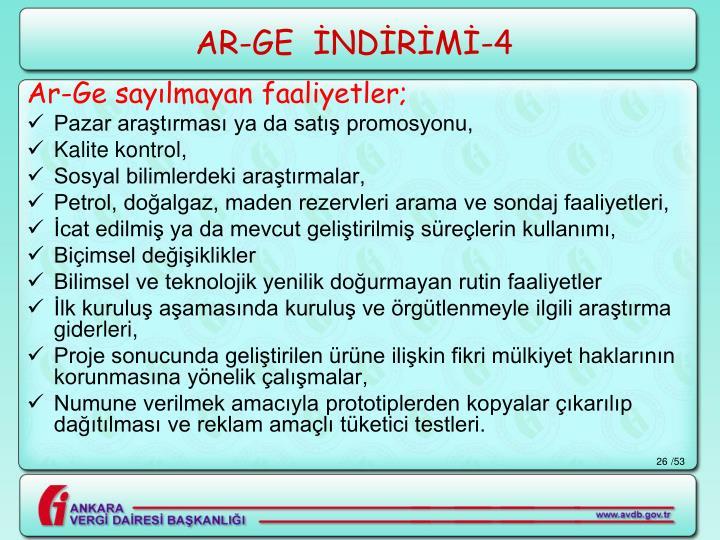 AR-GE  İNDİRİMİ-4