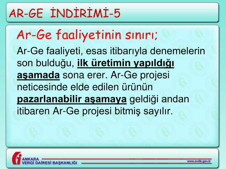AR-GE  İNDİRİMİ-5