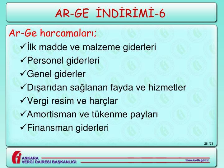 AR-GE  İNDİRİMİ-6