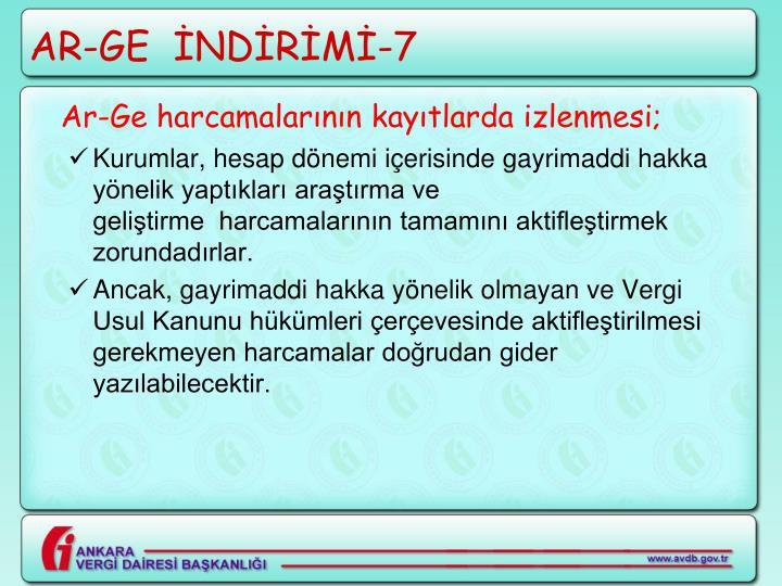 AR-GE  İNDİRİMİ-7