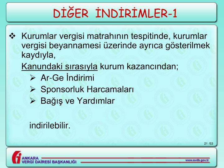 DİĞER  İNDİRİMLER-1
