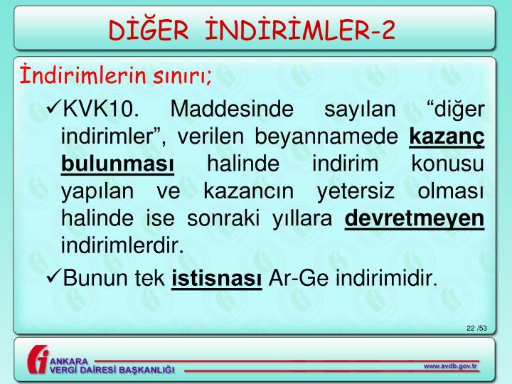 DİĞER  İNDİRİMLER-2