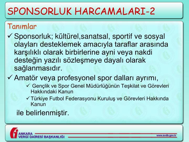 SPONSORLUK HARCAMALARI-2