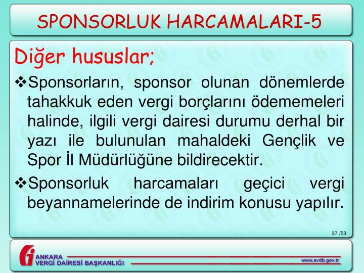 SPONSORLUK HARCAMALARI-5