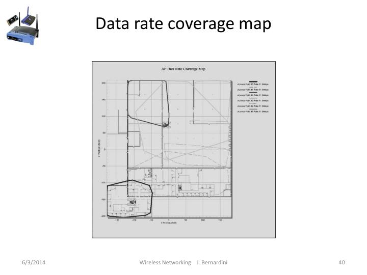 Data rate coverage map