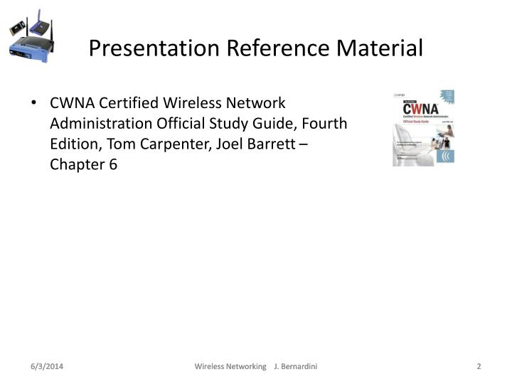 Presentation reference material