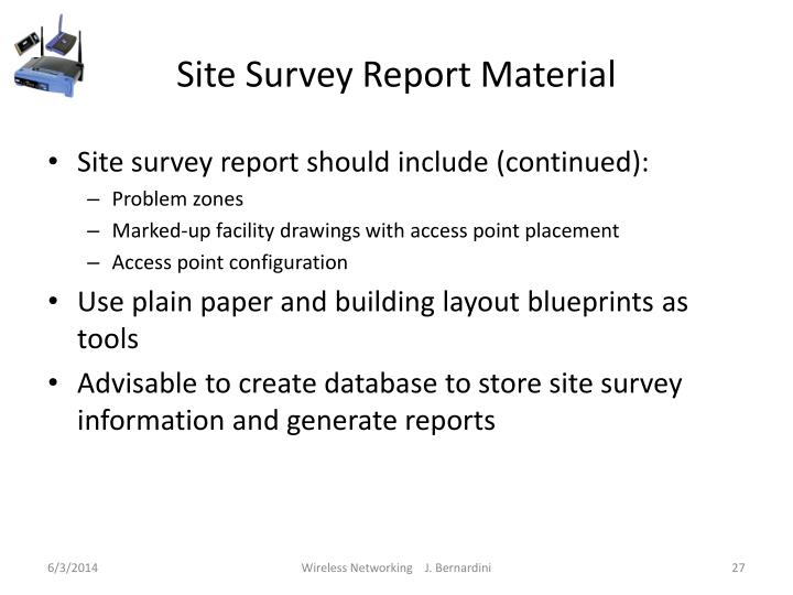 Site Survey Report Material