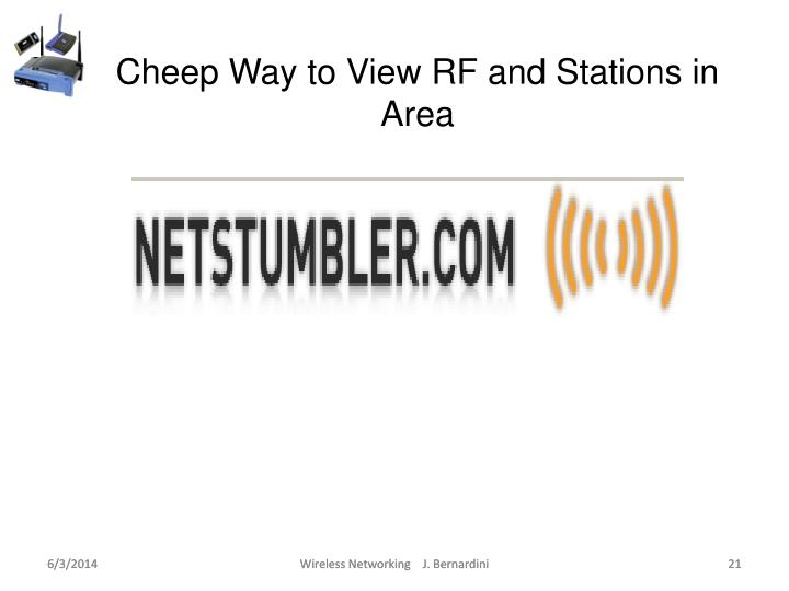 Cheep Way to View RF and Stations in Area