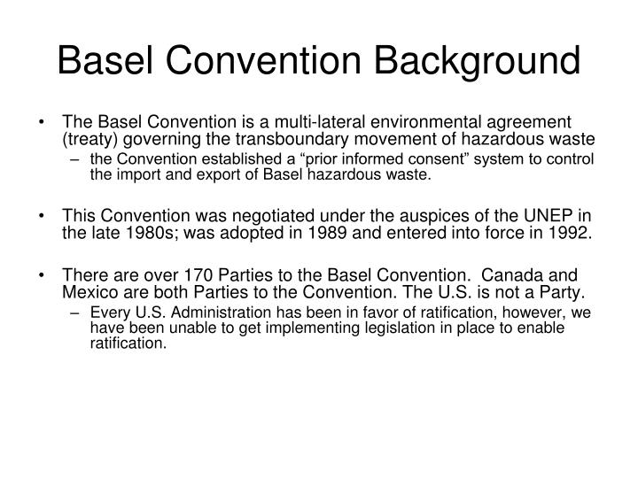 Basel convention background