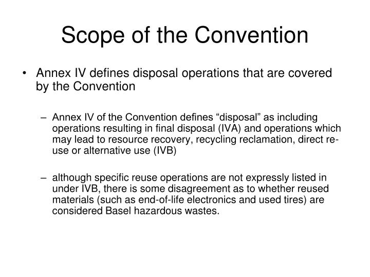 Scope of the Convention