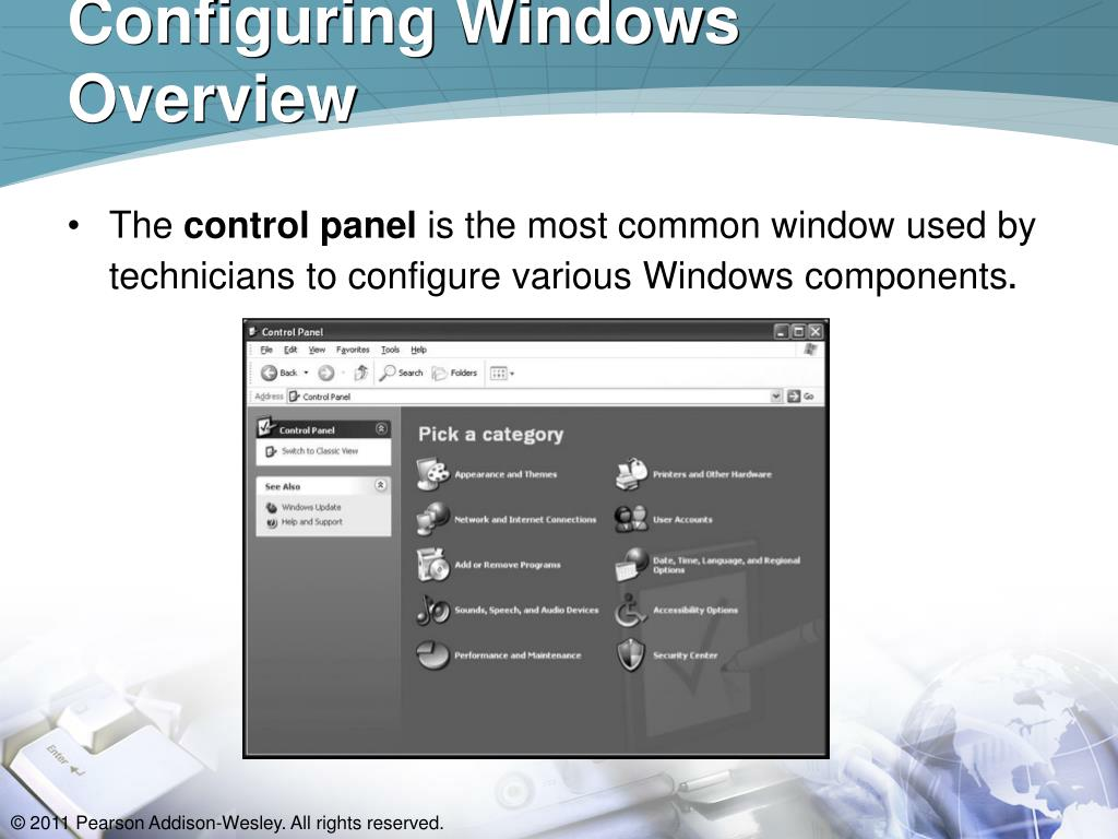 Configuring Windows  Overview