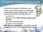 corporate windows deployment