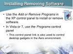 installing removing software