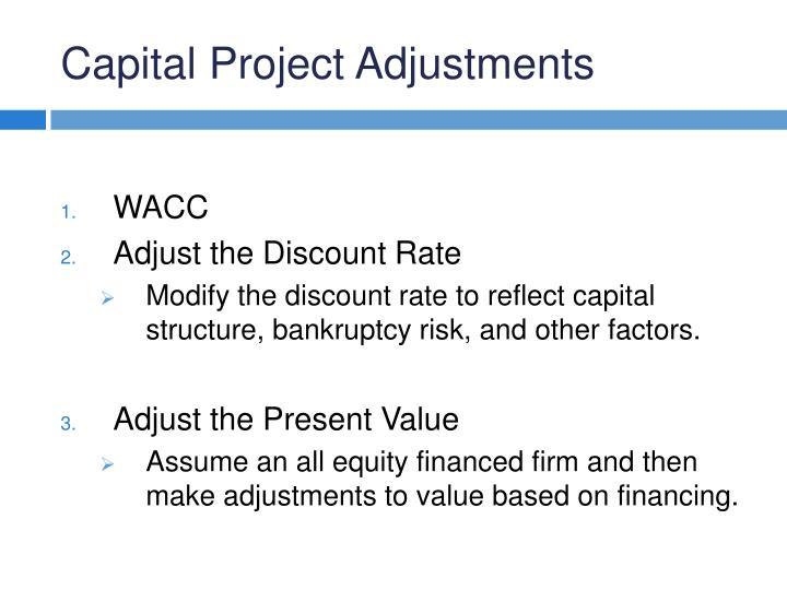 Capital Project Adjustments