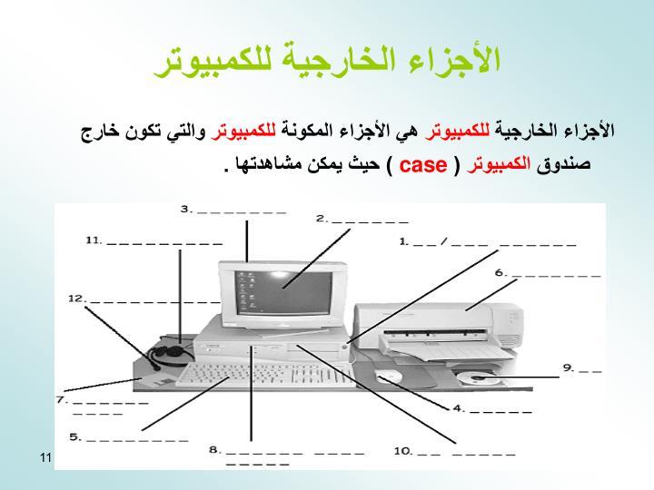 الأجزاء الخارجية للكمبيوتر