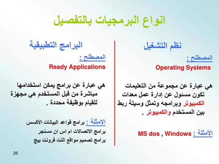 البرامج التطبيقية