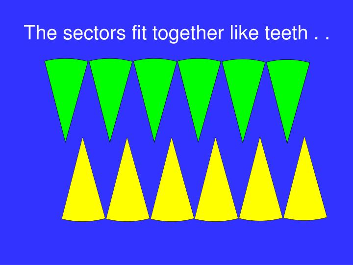 The sectors fit together like teeth . .