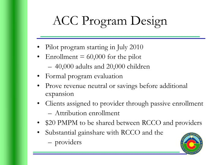 ACC Program Design