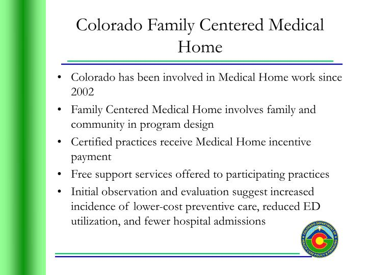 Colorado Family Centered Medical Home