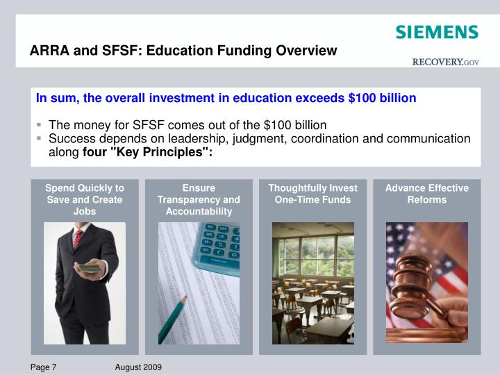 ARRA and SFSF: Education Funding Overview