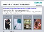arra and sfsf education funding overview