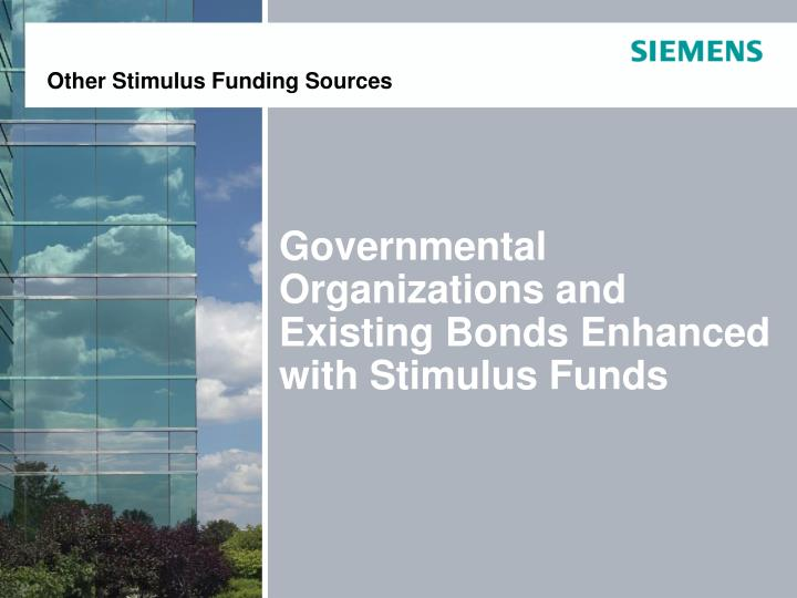 Other Stimulus Funding Sources