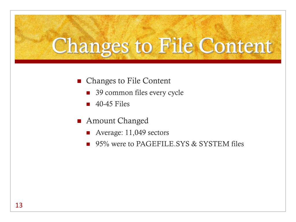 Changes to File Content
