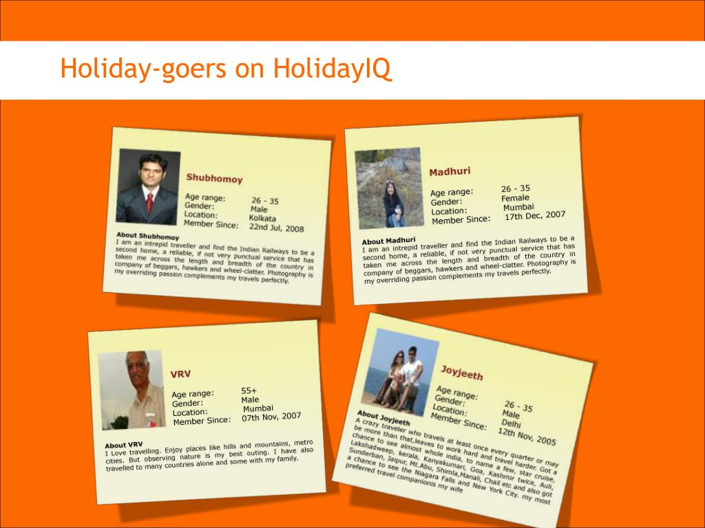 Holiday-goers on HolidayIQ