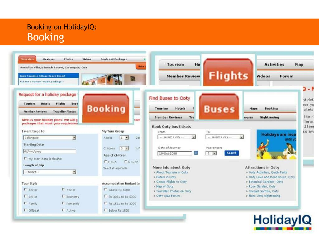 Booking on HolidayIQ: