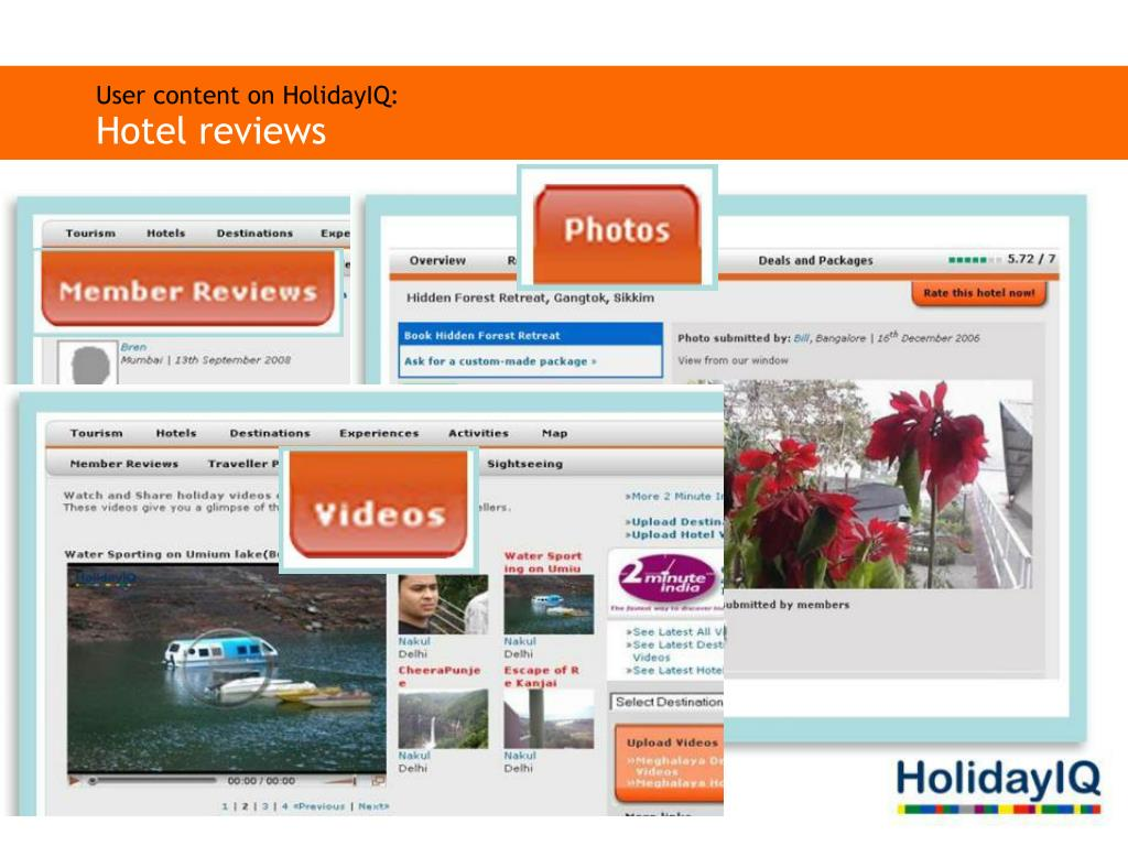 User content on HolidayIQ: