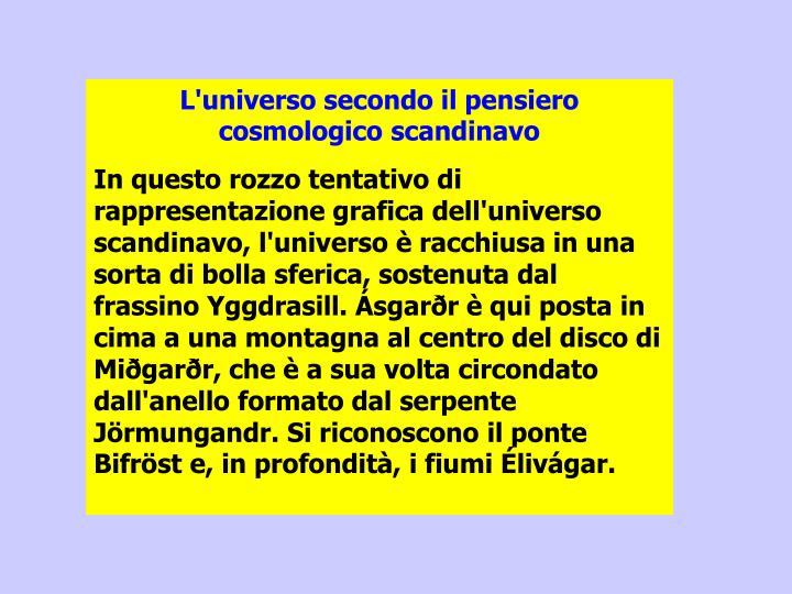 L'universo secondo il pensiero cosmologico scandinavo