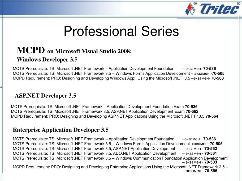 MCTS Prerequisite: TS: Microsoft .NET Framework – Application Development Foundation
