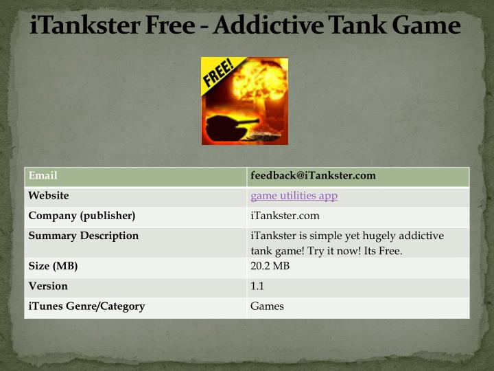 Itankster free addictive tank game