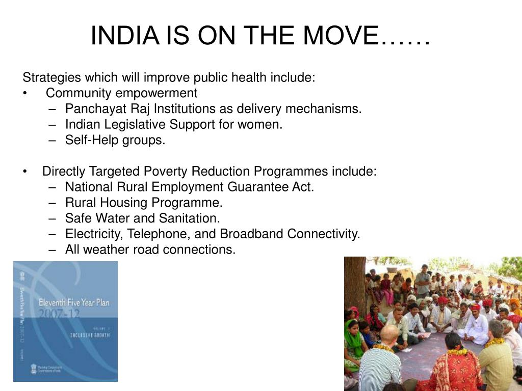 INDIA IS ON THE MOVE……