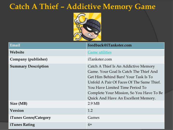 Catch a thief addictive memory game l.jpg