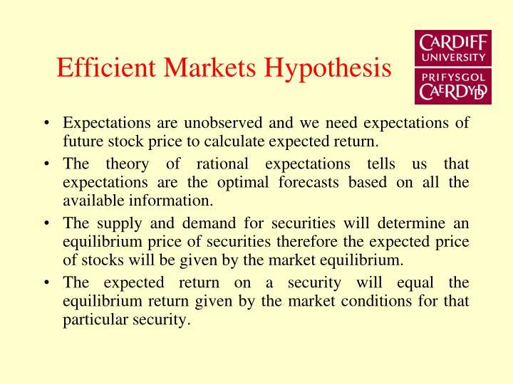 Efficient Markets Hypothesis