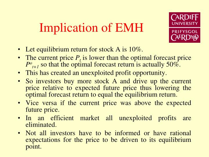 Implication of EMH