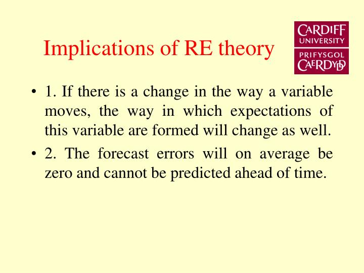 Implications of RE theory