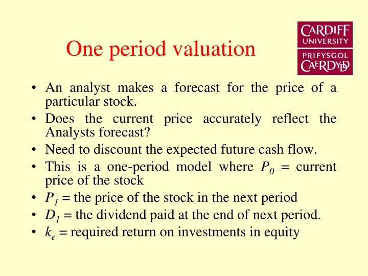 One period valuation