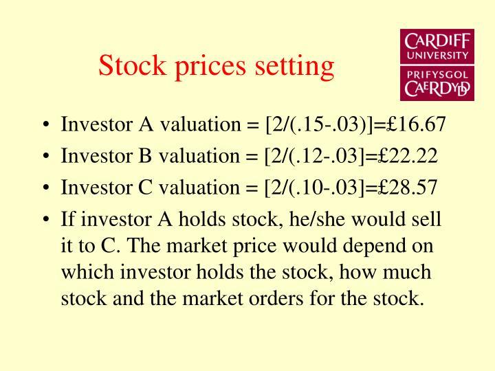 Stock prices setting