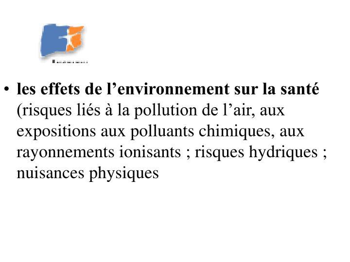 les effets de l'environnement sur la santé