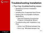 troubleshooting installation