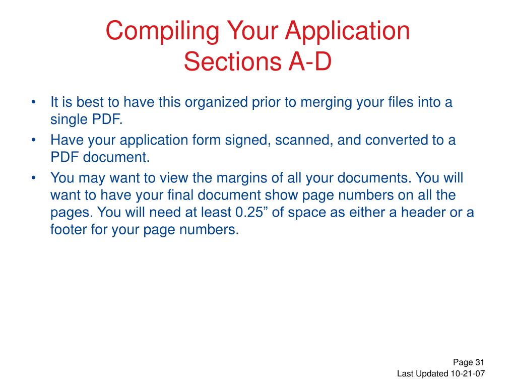 Compiling Your Application