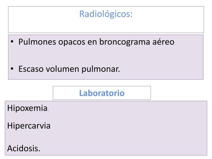 Radiológicos: