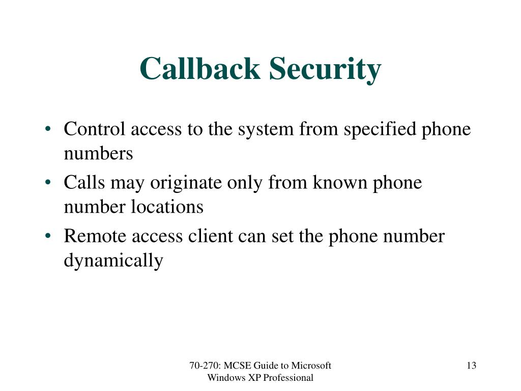 Callback Security