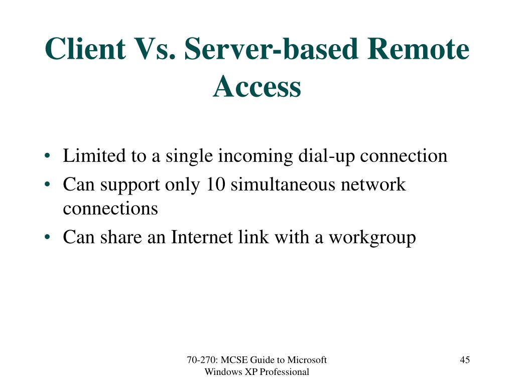 Client Vs. Server-based Remote Access