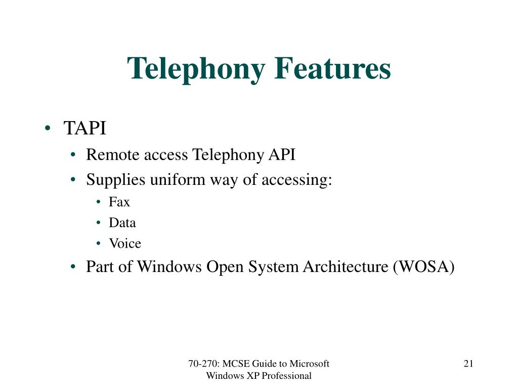 Telephony Features