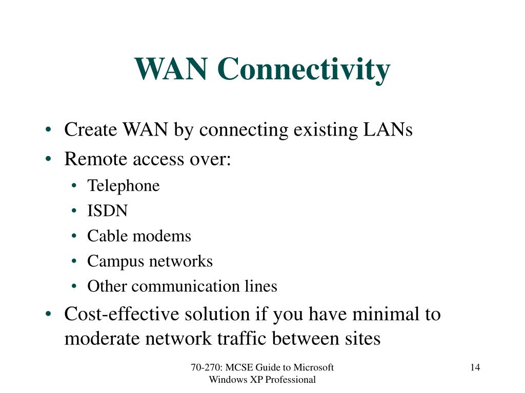 WAN Connectivity