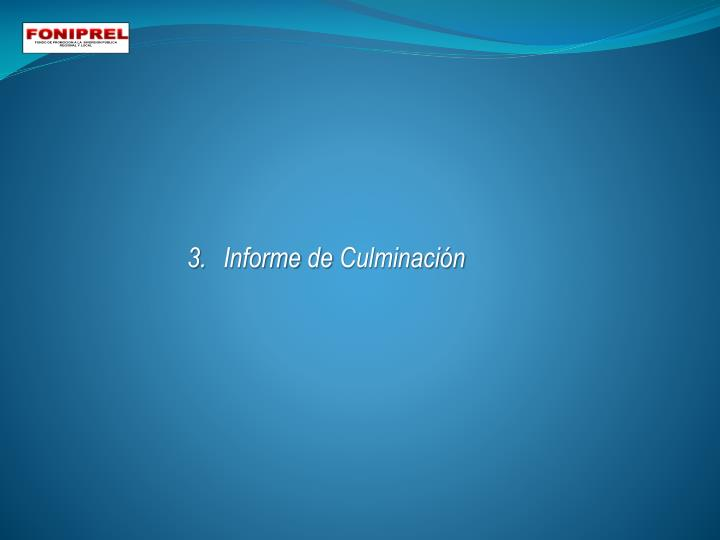 3.Informe de Culminación